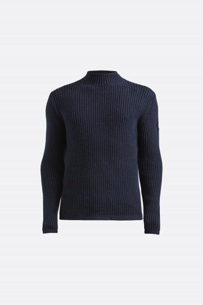 Miesten sininen korkeakauluksinen neule