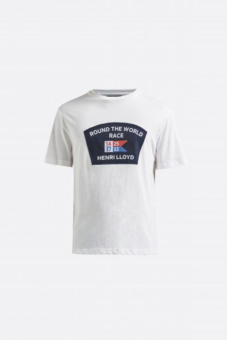 Miesten valkoinen logo-t-paita