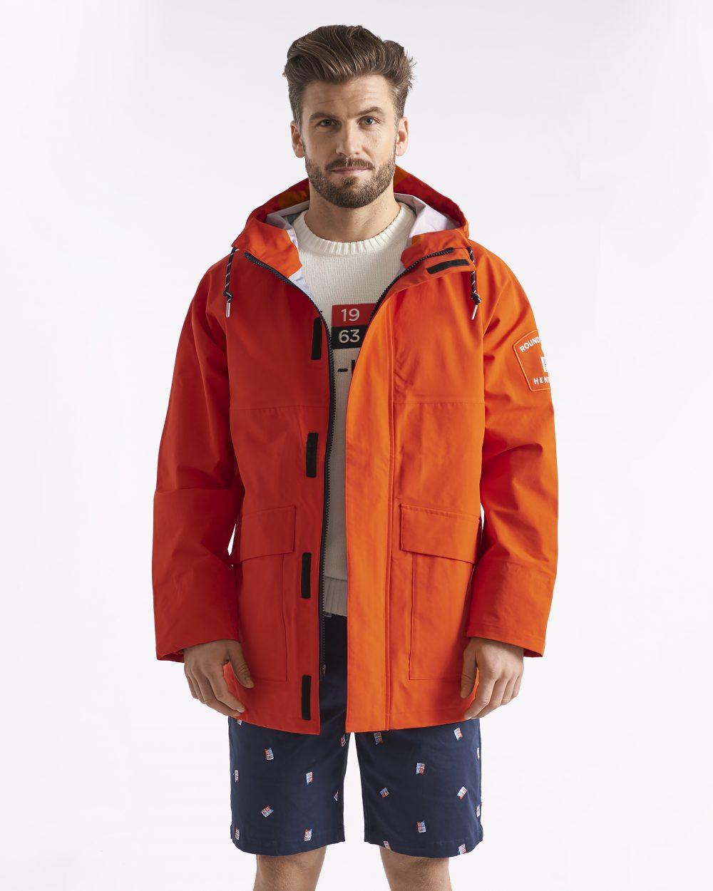 Miesten oranssi vettäpitävä takki