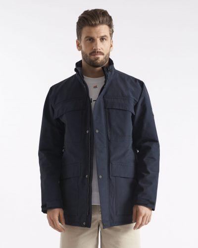 Miesten tummansininen vettäpitävä takki