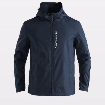 Miesten hupullinen sininen takki