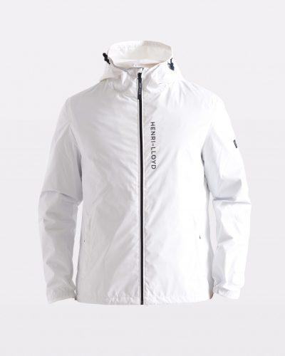 Miesten valkoinen hupullinen takki