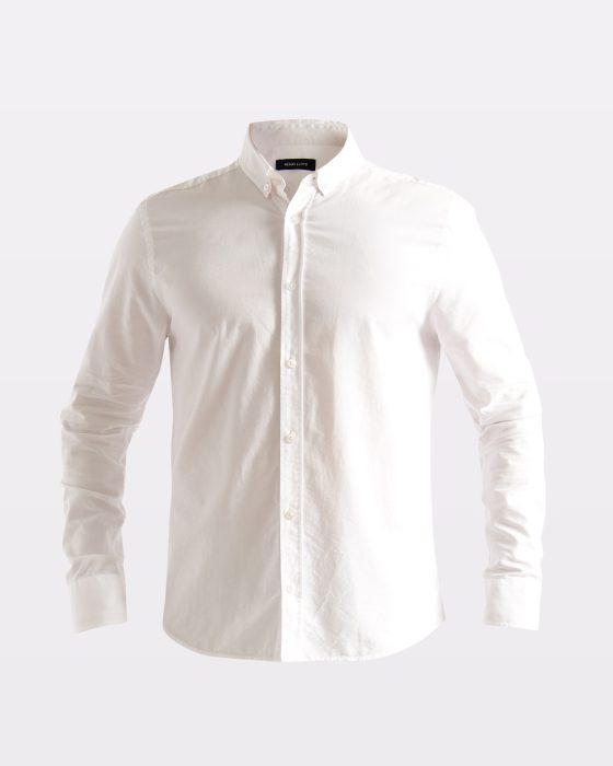 Miesten valkoinen Oxford-paita