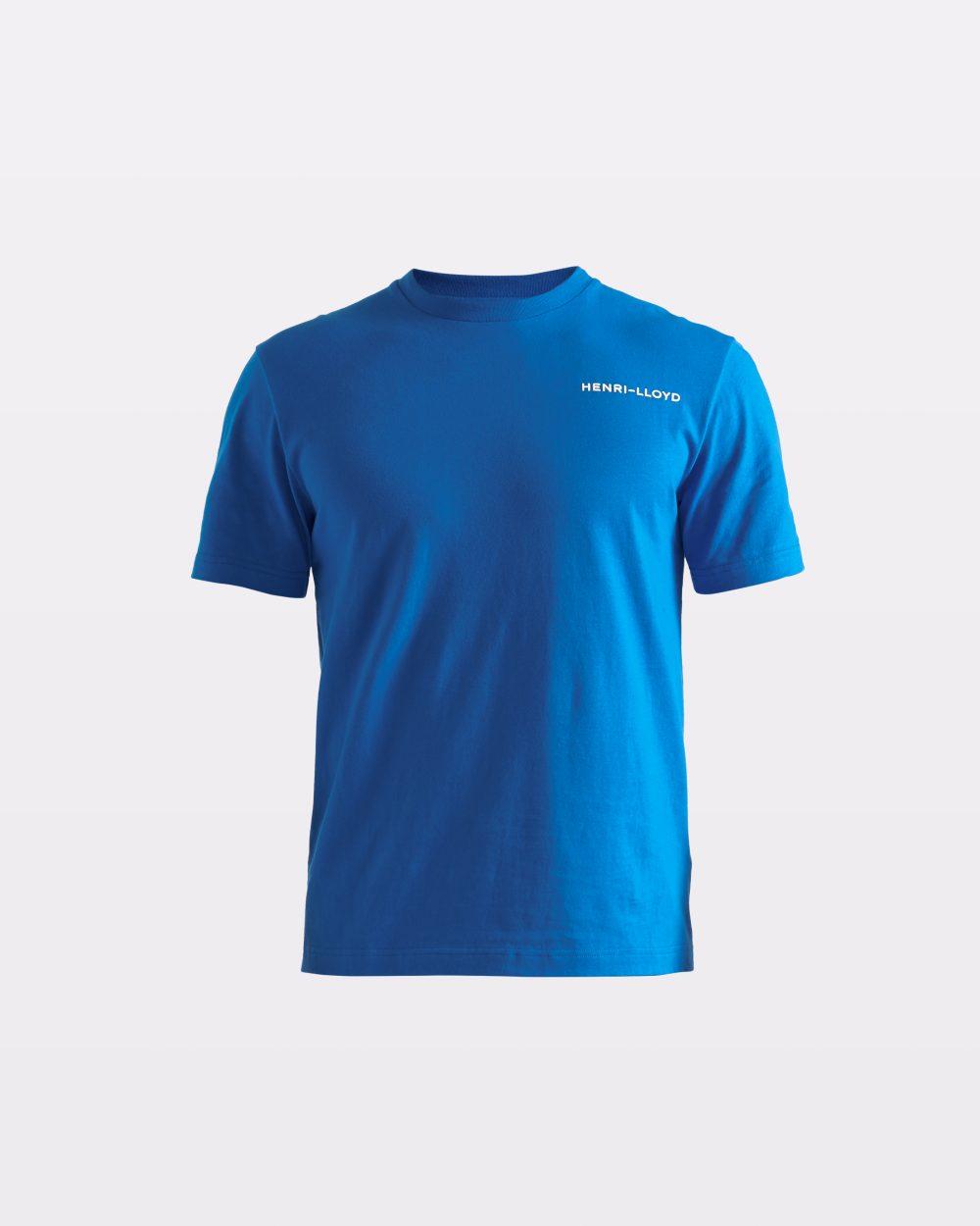 Miesten kirkkaansininen t-paita RWR-logolla