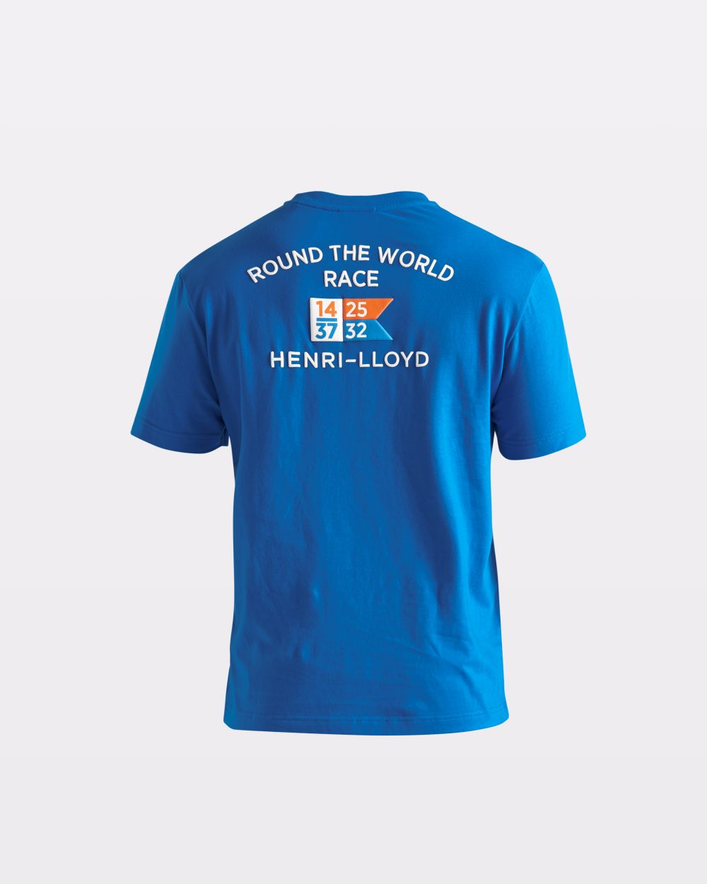 Miesten kirkkaansininen RWR-t-paita takaapäin