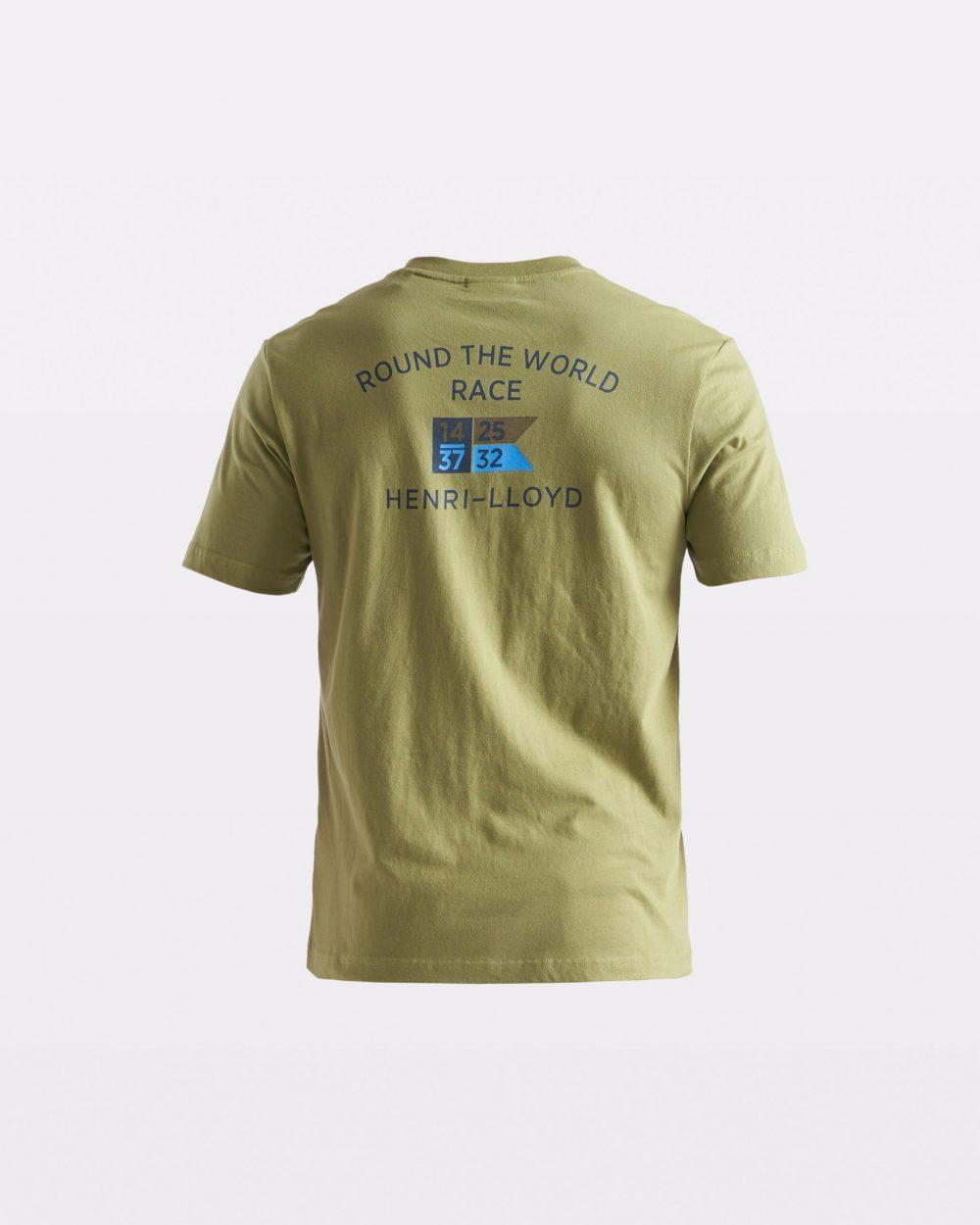 Miesten vaaleanvihreä RWR-t-paita takaapäin