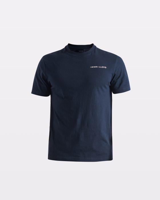 Miesten tummansininen t-paita RWR-logolla selässä