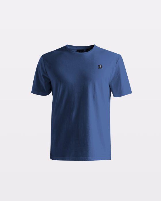 Miesten sininen perus-t-paita