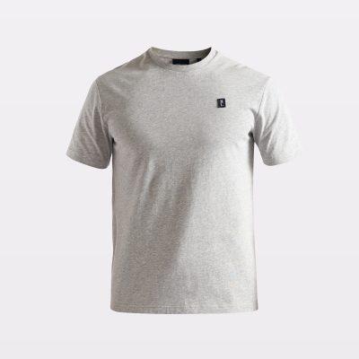 Miesten harmaa perus-t-paita