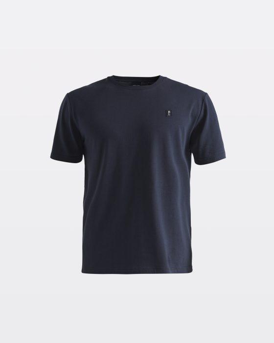 Miesten tummansininen perus-t-paita