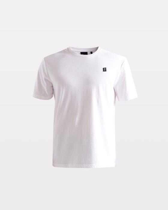 Miesten valkoinen perus-t-paita