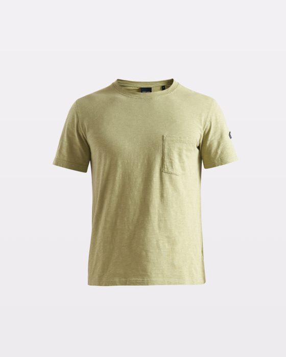 Miesten rento vaaleanvihreä eläväpintainen t-pinta