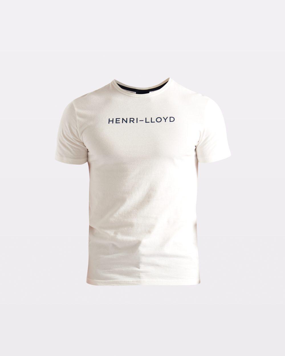Miesten puuvillainen valkoinen t-paita
