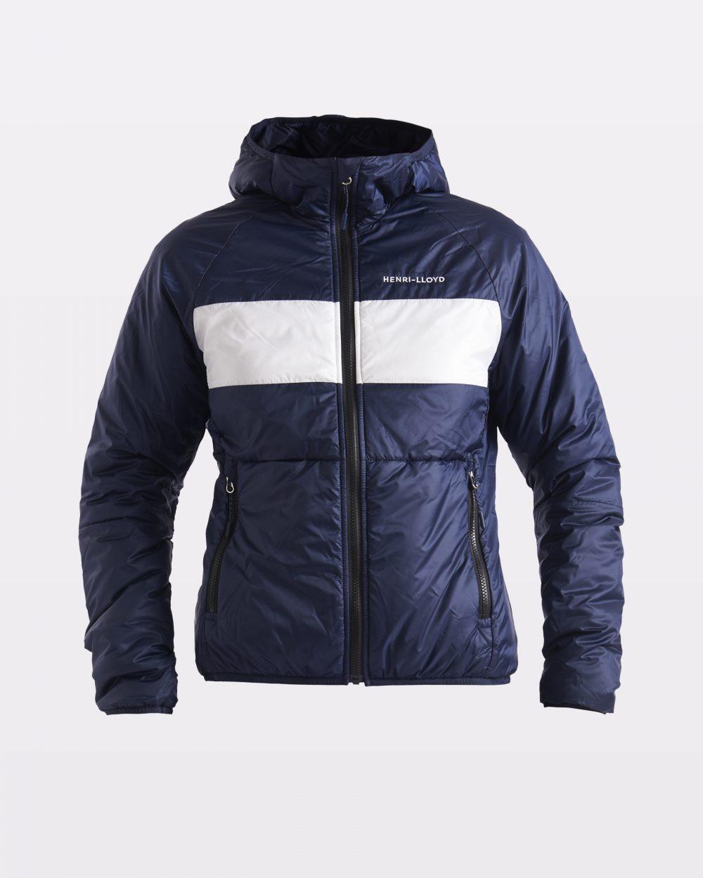 Naisten sininen synteettistä untuvaa oleva takki